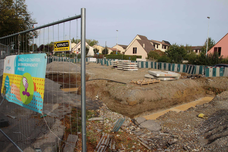 Site de la future station Le Galet ligne A.