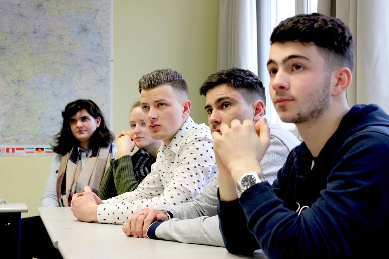 Les élèves en bac pro cuisine du lycée Guebwiller en Alsace