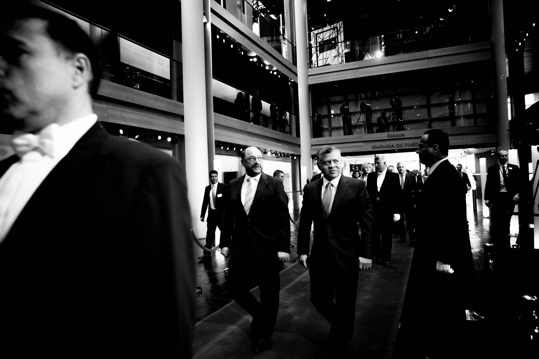 10/03/15 - 11:20 - Martin Schulz et le Roi Abdallah II de Jordanie