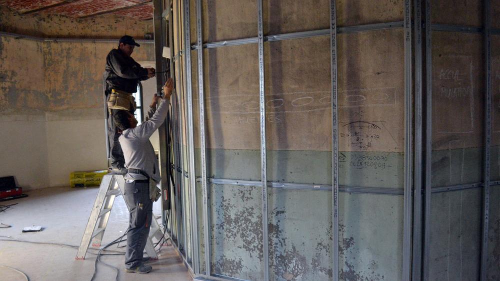 La rénovation des lieux a débuté en février 2013.