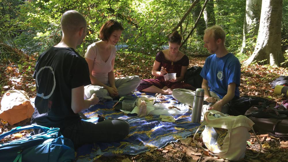 Le repas méditatif peut commencer. Au programme : assortiments de lentilles, purée de pois cassés, ou encore pain suédois.