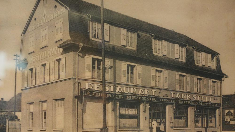 Le restaurant Tankstelle au début du XXe siècle. Photo DR