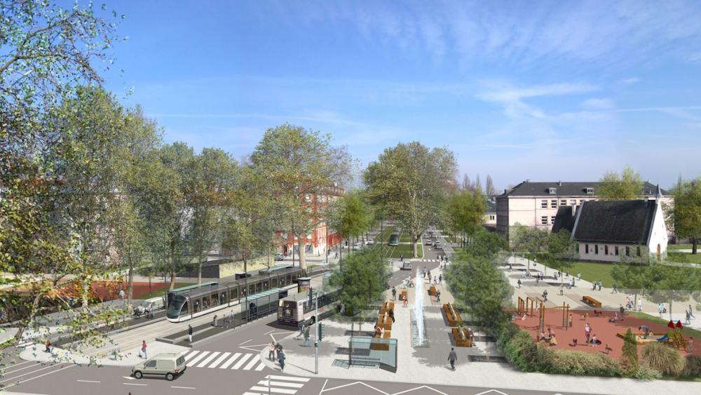 La station port du Rhin désenclavera le quartier. Crédit GETAS-PETER