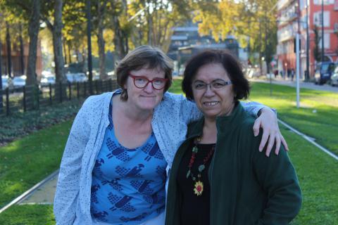 Claudine Simon et Leyla Binici