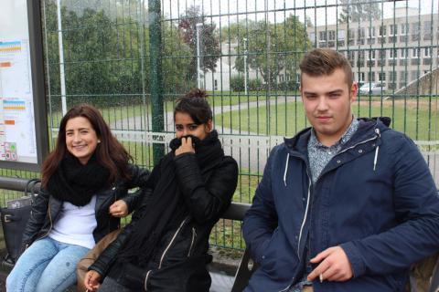 Océane, Pamela et Quentin.