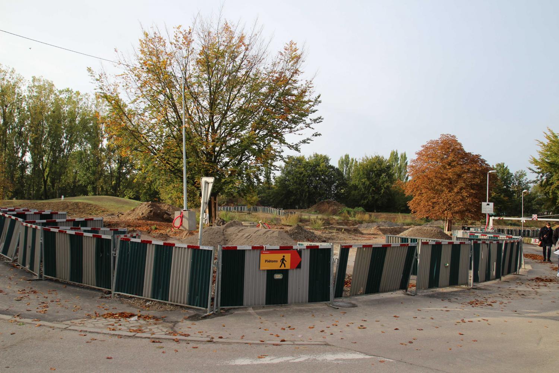 Site de la future station terminus Parc des Sports ligne A.