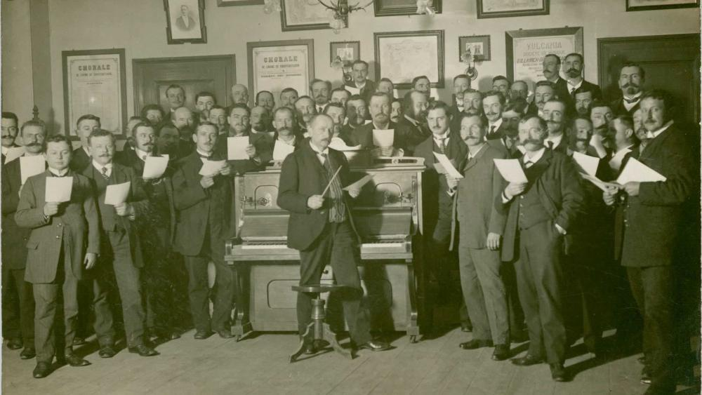La chorale de l'usine SACM. Photo DR