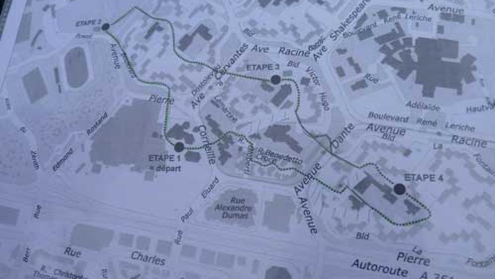 Le parcours de la marche traverse une grande partie des mailles du quartier.