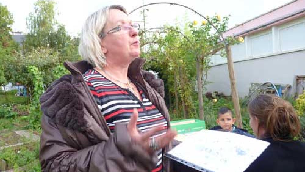 Monique Diskus, infirmère scolaire, animait l'atelier.