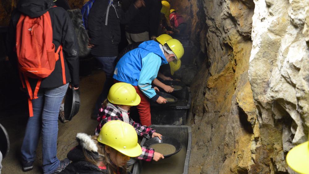 Pour terminer la visite, enfants et parents ont participé à une chasse au trésor.
