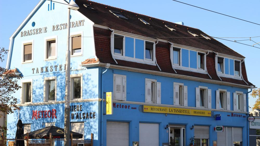 Le restaurant Tankstelle aujourd'hui. Photo Thomas Porcheron/Cuej