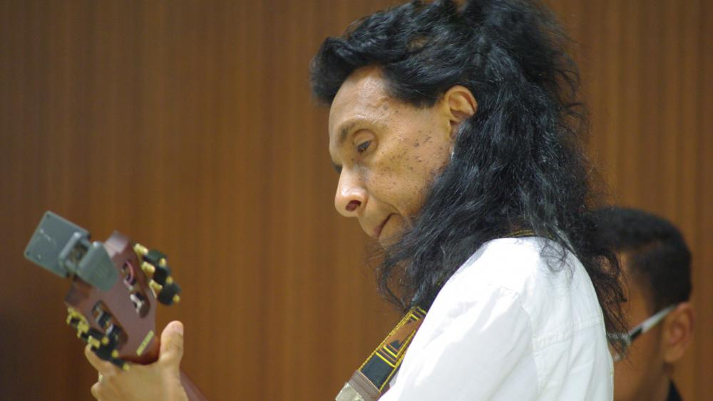 Le groupe a proposé un large registre de chants traditionnels malgaches.
