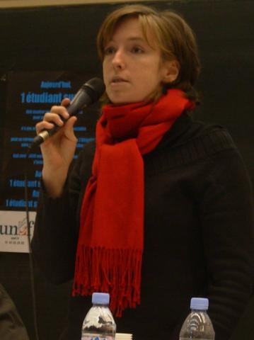 Caroline de Haas, lorsqu'elle était secrétaire générale de l'UNEF en 2006